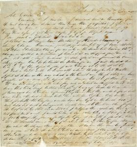 Photo of a hand-written document in the John Covode Collection