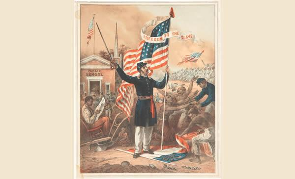 """Freedom to the Slave"" lithograph"